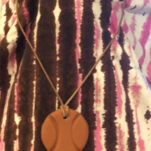 Clay essential oil diffuser brown necklace